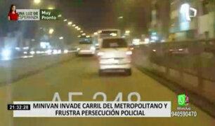 Estación Caqueta: vehículos no respetan carril exclusivo del Metropolitano