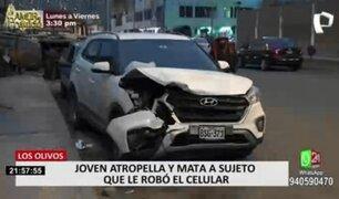 Los Olivos: joven atropelló y mató a presunto delincuente que le robó su celular