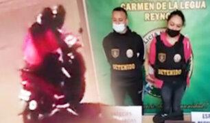 Cae peligrosa pareja de ladrones que sembraba el terror en el Callao