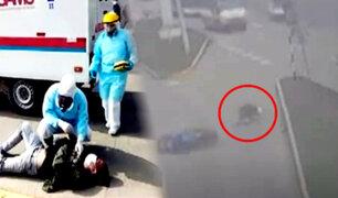 SJM: imprudencia causa grave accidente entre un motociclista y un auto