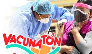 Tercera Vacunatón: meta es inmunizar a 250 mil personas del grupo de 40 a 44 años
