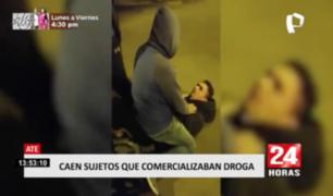 Caen sujetos que microcomercializaban droga en Ate