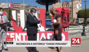 Puno: reconocen a chasqui peruano que cubre ruta del Qhapaq Ñan