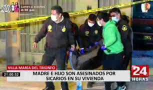 Madre e hijo asesinados: familia presume que sicarios se escondieron dentro de vivienda