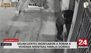Carabayllo: Delincuente ingresó a robar a una vivienda mientras la familia dormía