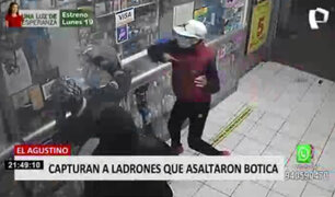 Capturan a delincuentes que asaltaron botica en El Agustino
