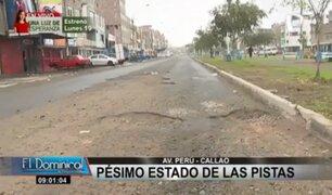Callao: vecinos y conductores se quejan de mal estado de pistas