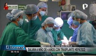 INSN San Borja: salvan a niño de cuatro años con trasplante hepático