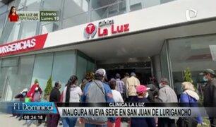 Clínica La Luz inaugura sede en SJL: gran expectativa de vecinos por operaciones gratuitas