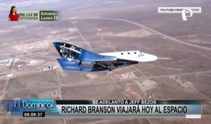 Richard Branson: multimillonario viaja al espacio en una nave de su propia compañía