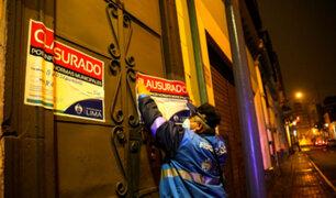 Cercado de Lima: Clausuran tres bares por funcionar en pleno toque de queda