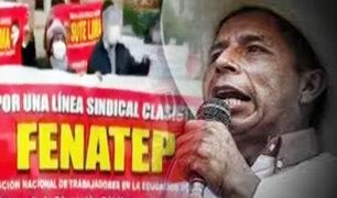 Despertar de los sindicatos de Castillo: problemas de Perú Libre activan a sus propios maestros