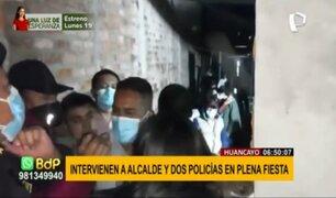 Huancayo: intervienen a alcalde y 2 policías en fiesta en pleno toque de queda