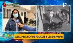 Asaltan a policías en SJM: vecinos utilizan alarmas para frenar delincuencia