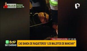 """""""Los Malditos de Manchay"""": capturan a banda de raqueteros tras intensa persecución"""