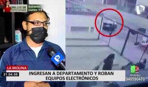 La Molina: robacasas ingresan a departamento y se llevan equipos valorizados en S/20 mil