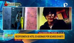 Crimen en VMT: sicarios asesinan a balazos a recepcionista de hotel