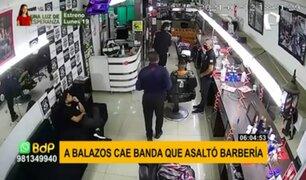 Persecución y balacera en Los Olivos: detienen a banda de extranjeros tras asaltar barbería