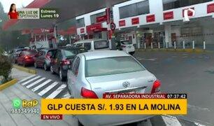 ¡Atención conductores! Grifo de La Molina ofrece GLP a S/. 1.93 por litro