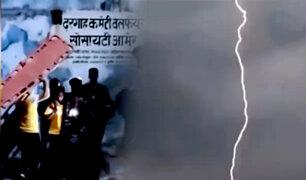 Al menos 38 personas murieron por rayos en La India
