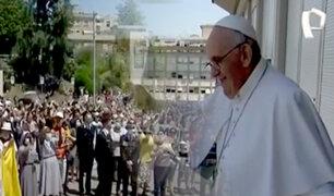 Italia: Papa Francisco reaparece en público tras operación