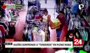 Iquitos: sorprenden a 'tenderos' en pleno robo