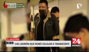 Cae ladrón que robó celular a transeúnte en El Agustino