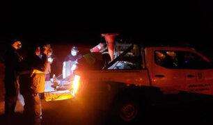 Despiste de camioneta deja dos muertos y dos heridos de consideración en Arequipa