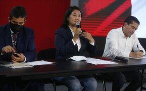 PJ deja sin efecto orden que impedía a Keiko Fujimori comunicarse con Miguel Torres y Lourdes Flores