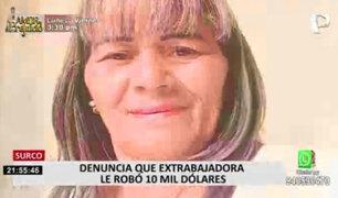 Surco: familia pide a exempleada que les devuelva los US$10 mil que robó