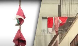A pocos días del Bicentenario: Banderas en mal estado en las calles de Lima