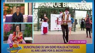 Municipalidad de San Isidro realiza actividades al aire libre para celebrar el Bicentenario