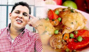Hoy en D'Mañana: esposo de Florcita Polo prepara un riquísimo estofado de pollo