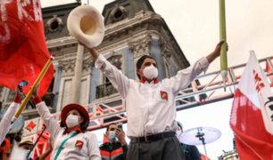 Pedro Castillo ofreció su primer discurso tras ser proclamado presidente electo