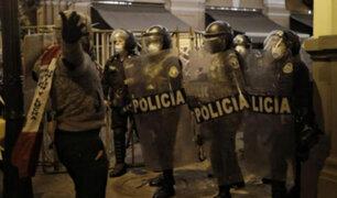 Manifestantes se enfrentaron a la PNP e intentaron llegar a Palacio de Gobierno