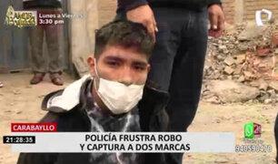 Caen delincuentes que intentaron robarle a joven casi 12 mil soles en Carabayllo
