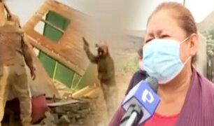 Carabayllo: Desalojan violentamente a familias entre disparos y queman sus pertenencias