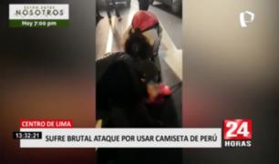 Centro de Lima: denuncian que hombre acabó con la cabeza rota por usar camiseta de Perú