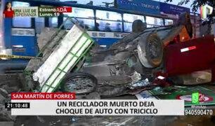 SMP: trabajadores de la zona de Palao denuncian constantes accidentes vehiculares