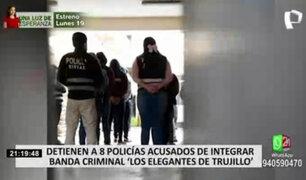 PNP condenó banda criminal que estaría integrada por ocho efectivos en Trujillo