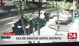 Vecinos viven atemorizados por ola de asaltos en Chorrillos