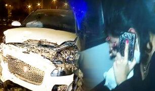 Surquillo: Conductora empotra su camioneta contra inmueble y se da a la fuga