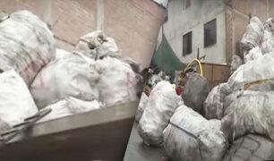 Chorrillos: vecinos denuncian gran acumulación de material reciclado en plena vía pública