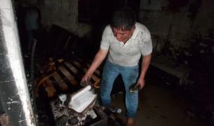SMP: más de cinco personas salvaron de morir calcinadas durante incendio en vivienda