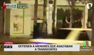 Comas: vecinos denuncian que menores están detrás de varios robos en La Pascana