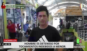Chorrillos: detienen a un trabajador de limpieza por tocamientos indebidos a menor