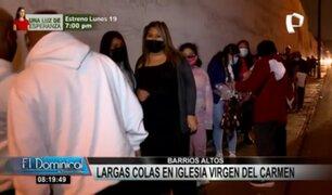 Virgen del Carmen: fieles se congregaron en exteriores de iglesia por más de 12 horas