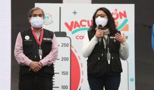 Covid-19: premier Violeta Bermúdez asegura que Vacunatón está dando resultados muy positivos