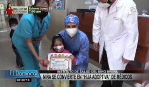 "INSN Breña: médicos y enfermeras se convierten en ""padres adoptivos"" de niña"