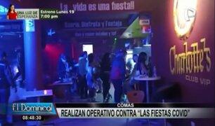 Comas: intervienen a más de 200 personas en fiestas covid durante toque de queda